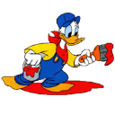 Donald-Duck-Painting