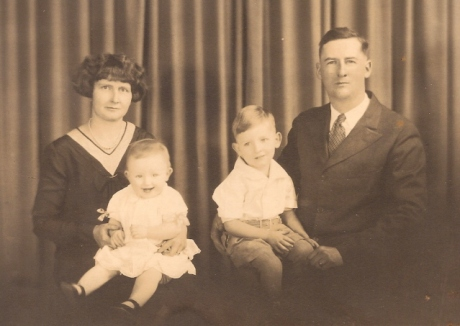 My paternal grandparents with dad and Marjorie