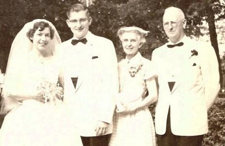 Margaret & Walter at my parents' wedding, 1955